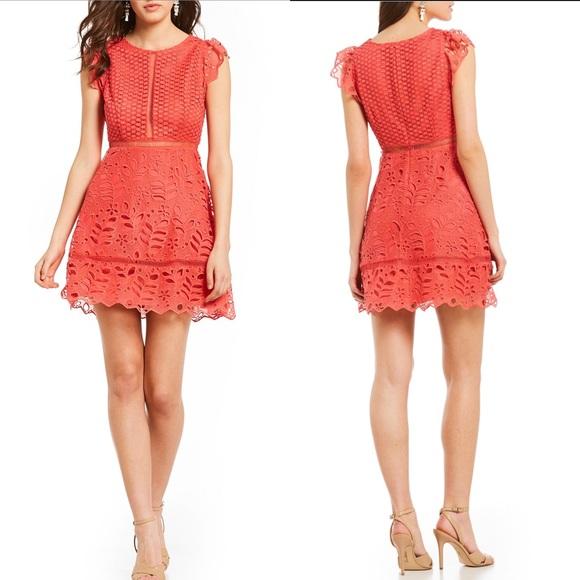 910c10d6aff5d BB Dakota Adriane mixed lace dress